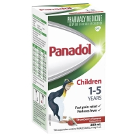 Panadol Children 1-5 Y Strawberry 200mL, Bottle