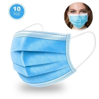 3 PLY SURGICAL FACE MASK VIRAFREE (SINGLE USE), 10 PACK - Click for more info