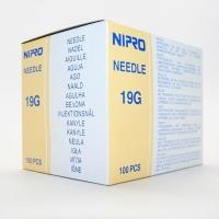 """NIPRO NEEDLE 19G (1.1 mm)x1 ½"""" (38 mm) BOX 100"""