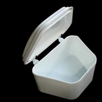 Denture Bath Cup White, each