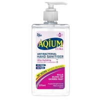 Aqium Ultra Hydrating Hand Gel 375ml, Pink