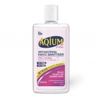 AQIUM ULTRA HYDRATING GEL SANITISER FLIP TOP 350ML PINK (LIMITED STOCK AVAILABLE