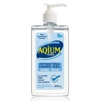 Aqium Anti-Bacterial Hand Gel 375ml, each  (Limited Stock Available)