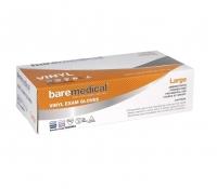 BARE MEDICAL GLOVES VINYL PF LARGE, PKT 100