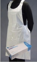 Apron White Safebasics PE 81cm X 132cm, Box 100