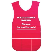 MEDICATION ROUNDS APRON RED, EACH