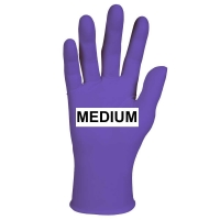 GLOVES EXAM PURPLE NITRILE PF MEDIUM, Box 100
