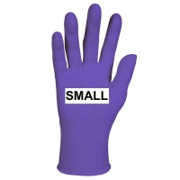 GLOVES EXAM PURPLE NITRILE PF SMALL, Box 100