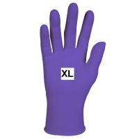 GLOVES EXAM PURPLE NITRILE PF X-Large, Box 100