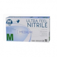 GLOVES ULTRA FEEL ECO NITRILE PF Medium, Box 100