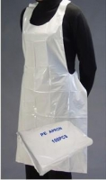 DISPOSABLE POLYETHELENE APRONS WHITE 71CMx117CM, BOX 100