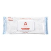 CONFIDENT CARE BED BATH LITE WIPES PKT 8