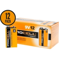 BATTERY DURACELL 9V, Pkt 12