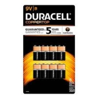 BATTERY DURACELL 9V, Pkt 8