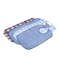 ADULT MEALTIME BIB BLUE PLAID 90CMx45CM EACH