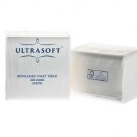 ULTRASOFT 2PLY INTERLEAVED TOILET TISSUE CTN 36