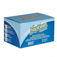 Napkleen Disposable Self Adhesive Bib, Box 50