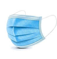 3 PLY SURGICAL FACE MASK FLUID RESISTANT EARLOOP BLUE - LEVEL 2 - BOX 50 - Click for more info