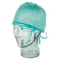 DISPOSABLE SURGICAL CAPS WITH TIES, PKT 100 - Click for more info