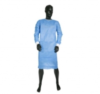 IMPERVIOUS BLUE ISO GOWN N/S VELCRO NECK KNIT WRIST OS, BOX 50