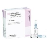 ADRENALINE AMPOULES 1/1000 1ML, BOX 5