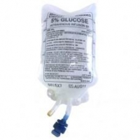 BAXTER GLUCOSE 5% IV BAG 500ML, EACH