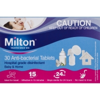 MILTON ANTI-BACTERIAL TABLETS, BOX 30