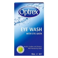 OPTREX EYE WASH + EYE BATH 110ML, EACH