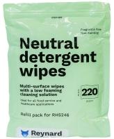 REYNARD NEUTRAL DETERGENT WIPES REFILLS, PKT 220