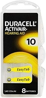 Duracell Hearing Aid Batteries 10, Pack 8
