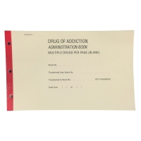 BLANK DRUG OF ADDICTION REGISTER BOOK, EACH