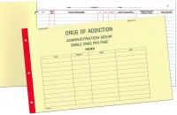 BLANK DRUG OF ADDICTION REGISTER BOOK SINGLE DRUGS, EACH