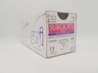 Suture Surgicryl PGA 4/0 19mmx75cm Violet, Box 12