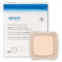 AQUACEL Foam Adh 10cm x 10cm, Box 10