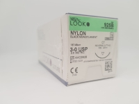 SS Look Nylon Suture 3-0 24mm 45cm, Box 12