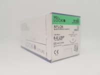 SS Look Nylon Suture 5-0 18mm 45cm, Box 12