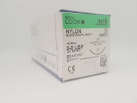 SS Look Nylon Suture 2-0 26mm 45cm, Box 12