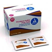 Povidone Iodine Antiseptic Swab/Prep Pad, Box 100