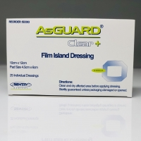 ASGUARD CLEAR+ FILM ISLAND 10CMx12CM, BOX 25