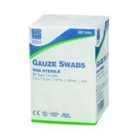 Gauze Swabs Non-Sterile 7.5 x 7.5cm, Box 100